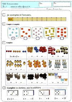 1st Grade Math, Grade 1, French Education, Math Education, Math Addition, Math Activities, Homeschool, Alice, Kids