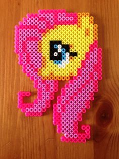 MLP Fluttershy Hama Bead Creation by sophiemai on deviantART