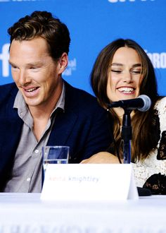 Toronto International Film Festival (September 9, 2014) ~ Photo: Benedict Cumberbatch & Keira Knightley at THE IMITATION GAME press conference.