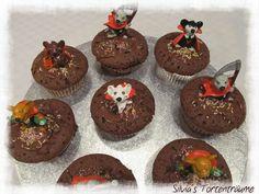 Silvia's Tortenträume: Halloween Muffins Glitschi-Augen Augen als Füllung