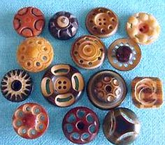 Antique Vegetable Ivory Buttons