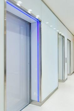 St. Thomas Penthouse, elevator lobby with LED lighting to announce elevator arrival. Kristi Morrison Interiors