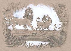 Tim Rogerson - The Lion King - Hakuna Matata Sketch - Original