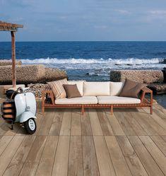 wood look porcelain pavers pool deck Outdoor Flooring, Outdoor Sofa, Indoor Outdoor, Outdoor Furniture, Outdoor Decor, Outdoor Landscaping, Outdoor Gardens, Cool Deck, Global Design