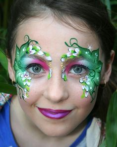 Beautiful nature face painting design                              …