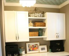 THIS!! Laundry Room Cabinets. Love The Handles Too!