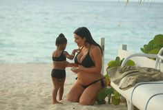 Keeping Up With Kimye — Kim & North in St. Barths - August 2015