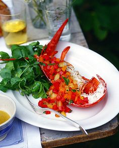 Lobster with Red and Yellow Tomatoes Recipe