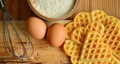 What's a favorite way to eat waffles?Chicken and waffles?Waffles and fruit?A waffle (not awful) sandwich?Auguswt 24 is the day to eat and celebrate a favor Waffle Recipes, Egg Recipes, Diet Recipes, National Waffle Day, Health Benefits Of Eggs, High Altitude Baking, Homemade Waffles, Eating Eggs, Belgian Waffles