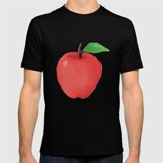 Apple Watercolor Watercolor style illustration of a red apple with leaf viewed from front set on isolated white background. #illustration #Apple
