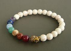 Mala bracelet Buddha bracelet 7 chakra Bracelet by MariZJewelry