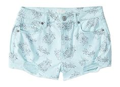 Aeropostale Women's Tokyo Darling Pineapple Destroyed Denim Shorty Shorts 00 Adr