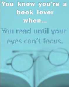 You know you're a book reader when...