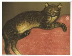 Theophile・Alexandre・Steinlen, Winter - Cat on a Cushion