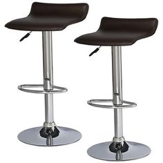 @Overstock - Set of two stools   Finish: Chrome/deep brown   Material: Steel, PVC, plywoodhttp://www.overstock.com/Home-Garden/Adjustable-Swivel-Stool-Set-of-2/6246139/product.html?CID=214117 $93.99