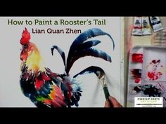 How to Paint a Rooster's Tail with Lian Quan Zhen - YouTube
