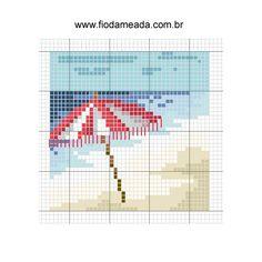 Cross Stitch World: pinguin Cross Stitch Sea, Cross Stitch Cards, Cross Stitching, Cross Stitch Embroidery, Cross Stitch Designs, Cross Stitch Patterns, Cross Stitch Landscape, Le Point, Needlepoint