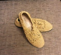 New Crochet shoes , Gold outdoor Crochet Shoes, New fashion For Winter Style…