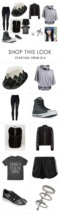 """lace day"" by alex-hayze on Polyvore featuring WithChic, Converse, Puma, Diane Von Furstenberg, adidas, Miss Selfridge and Silver Expressions by LArocks"