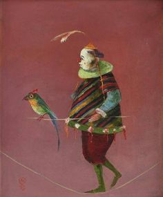 Ştefan Câlţia Born on 15 th. May, 1942 in Braşov, Romania. He attended the Arts and Music high school in Timişoara from 1959 to ha. Surrealism, Illustration Art, Illustrations, Contemporary Art, Street Art, Bird, Image, Paintings, Artists