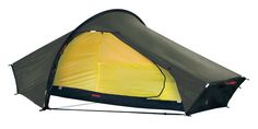 Hilleberg Akto: Only slightly heavier than a bivy bag, the Akto offers near-luxury, all-season shelter for the solo traveler. Although it was not designed for extreme use, it has proven itself on extended polar expeditions, and so will stand up well to all conditions.