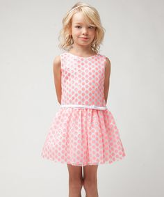 Look at this Sweet Kids Coral Polka Dot Sequin Drop-Waist Dress - Toddler & Girls on today! Cute Dresses, Flower Girl Dresses, Summer Dresses, Girls Dresses, Toddler Girl Dresses, Toddler Girls, Girls Dream Closet, How To Make Shorts, My Princess
