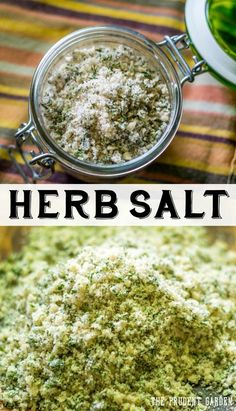 ❁❀Epinglé par CM ❃✿Preserve your herbs by making flavorful herb salts. Herb salts make perfect…