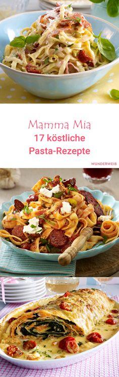 Bei diesen köstlichen Pasta-Rezepten können wir gar nichts anders, als noch einen Nachschlag zu nehmen.