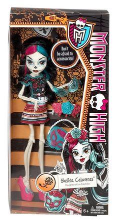 Monster High Monster Scaritage Skelita Calaveras Doll and Fashion Set - NEW!  | eBay