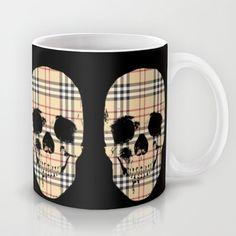 Mug-o'-the-Month Club: Burberry tartan skulls by Mark Ashkenazi