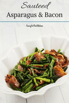 I love quick and easy side dishes, that are also low carb! Something that comes together in a flash with only three ingredients, that makes a delicious side dish, when you cannot think of one that pleases the whole family. Everyone loves bacon, and when you make it with asparagus, you might even get… Continue reading Sauteed Asparagus and Bacon