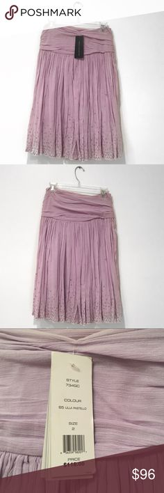 BRAND NEW   French Connection Purple Sequin Skirt Perfect for Spring and Summer, this French Connection Lavender Purple Sequin Skirt is a must have.  This flowy skirt features a beautifully pleated upper, which is complimented with hand sequining, making each skirt unique. It has never been worn and is in great condition. True to size. French Connection Skirts A-Line or Full