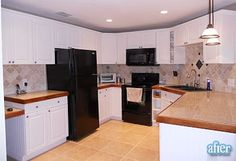 does the black appliances/white cabinets look hokey?  I have all black appliances.