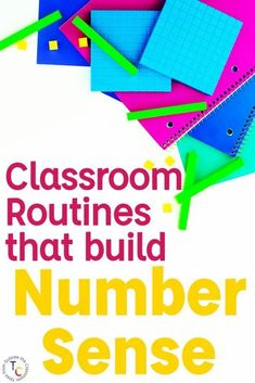 This post explains what number sense is and gives activities, routines, and strategies for building number sense in the primary grades. Through daily classroom routines and number sense games, students develop the number sense they need to be successful in math in future years. These number sense strategies, activities and resources help you build number sense in 1st grade and 2nd grade when it's most critical. #numbersense