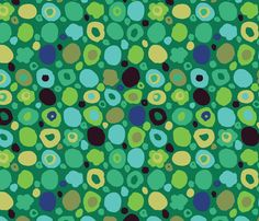 Lily pads on the pond fabric by cynthiafrenette on Spoonflower - custom fabric