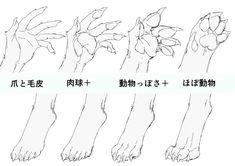 身体の仕組みから考える! 獣人を描き方講座 イラストの描き方 獣人の手足のパターン How to Draw Therianthropes   Illustration Tutorial Understanding Humand and Animal Anatomy Hand and Foot Variations