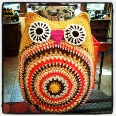 Life is art ... Art is Life: Crochet Owl Pillow ~ Good Morning & Nitey Nite!