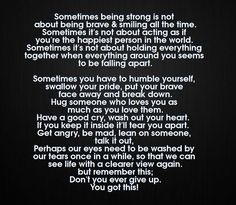 Sometimes Being Strong Is Not About Being Brave