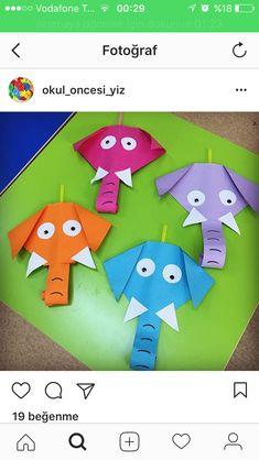 Elephant Animal Crafts For Kids, Paper Crafts For Kids, Fun Crafts, Art For Kids, Diy Paper, Craft Activities, Preschool Crafts, Construction Paper Art, Koala Craft