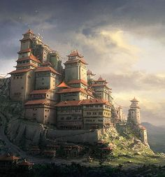 Chinese Monastery by Daniel Kvasznicza | Design Inspiration + Visual Art Inspiration | Designflavr