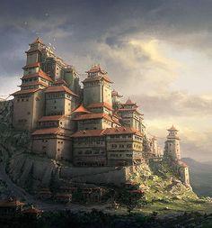 Chinese Monastery by Daniel Kvasznicza | Design Inspiration + Visual Art Inspiration | Designflavr