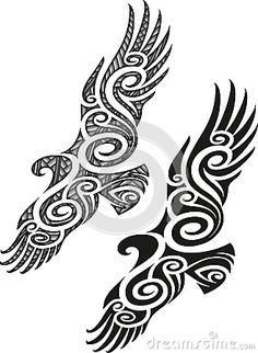 Maori Tattoo Pattern - Eagle Royalty Free Stock Photo - Image: 35385515