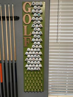 Golf Club Crafts, Golf Ball Crafts, Cadeau Golf, Thema Golf, Golf Room, Golf Pictures, Golf Simulators, Golf Theme, Play Golf