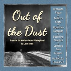 Out of the Dust by Karen Hesse: This historical fiction novel written in verse is jam-packed with strong writing, voice, stunning imagery, and figurative language that will leave the story lingering in students' minds long after the last page has been read! Whether used with whole-class instruction, small groups, academic intervention services, tutoring, or for independent reading, this packet is designed to prompt students to think deeply about the text and to show evidence of their thinkin...