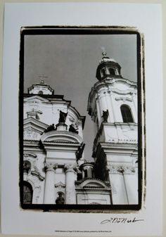 Black and White European Art Print, Splendors of Prague IV, by Laura DeNardo | eBay $20.99
