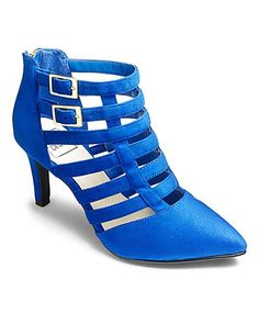 Add a touch of glamour to any outfit with these pointed strap wonders. Available in cobalt or black, these heels can be taken from day to night. Caged Shoes, Creative Shoes, America's Next Top Model, Royal Blue, Going Out, Diva, Fashion Shoes, Footwear, My Style