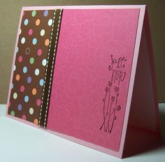 SALE - JUST a NOTE - Handmade all occasion greeting card. $2.25, via Etsy.