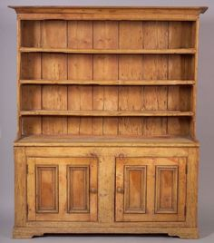 Pine Pewter Dresser Probably Ireland Early 19th Century The Flat Cove Molded