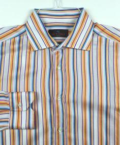 ETRO Milano Men's Made In Italy Long Sleeve Dress Shirt Size 41 (EU) #Etro