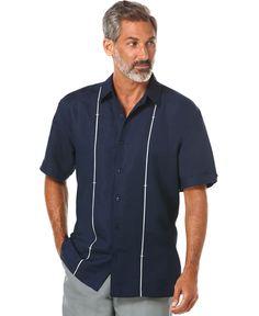 1a0c270b Cubavera Big and Tall Bar-Tacked Linen-Blend Shirt & Reviews - Casual  Button-Down Shirts - Men - Macy's